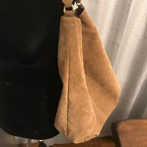 Banana Republic Brown Suede Hobo Bag